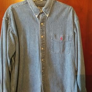 Men's size Vintage Ralph Lauren Denim Button Down
